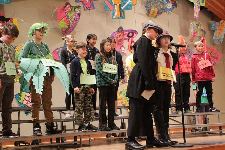 Fourth-graders ham it up with musical about geology