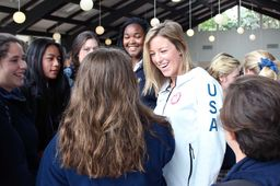 Brita Sigourney '08 returns to Catalina with Olympic medal in hand