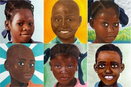 VIDEO: Haitian children receive portraits made by Catalina girls