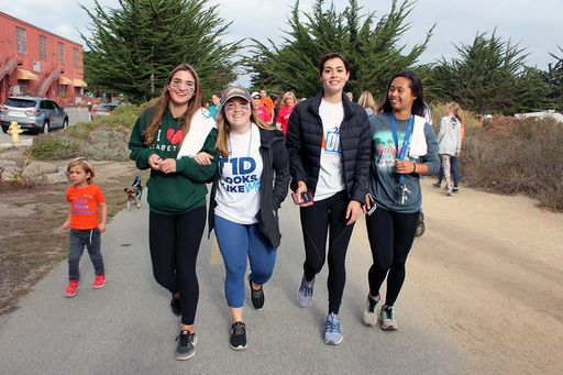 Students walk in support of type 1 diabetes research