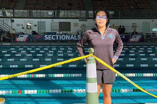 Senior swims in national competition