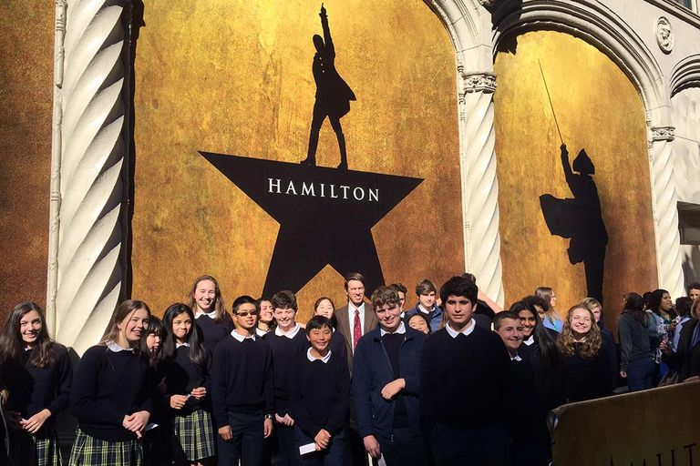Eighth-graders see 'Hamilton' in San Francisco