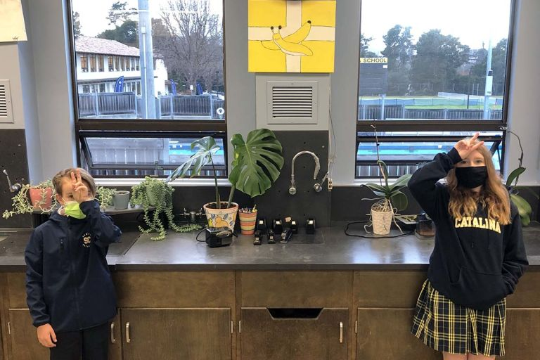 Back on campus, sixth-graders form 'Banana Slug Society'