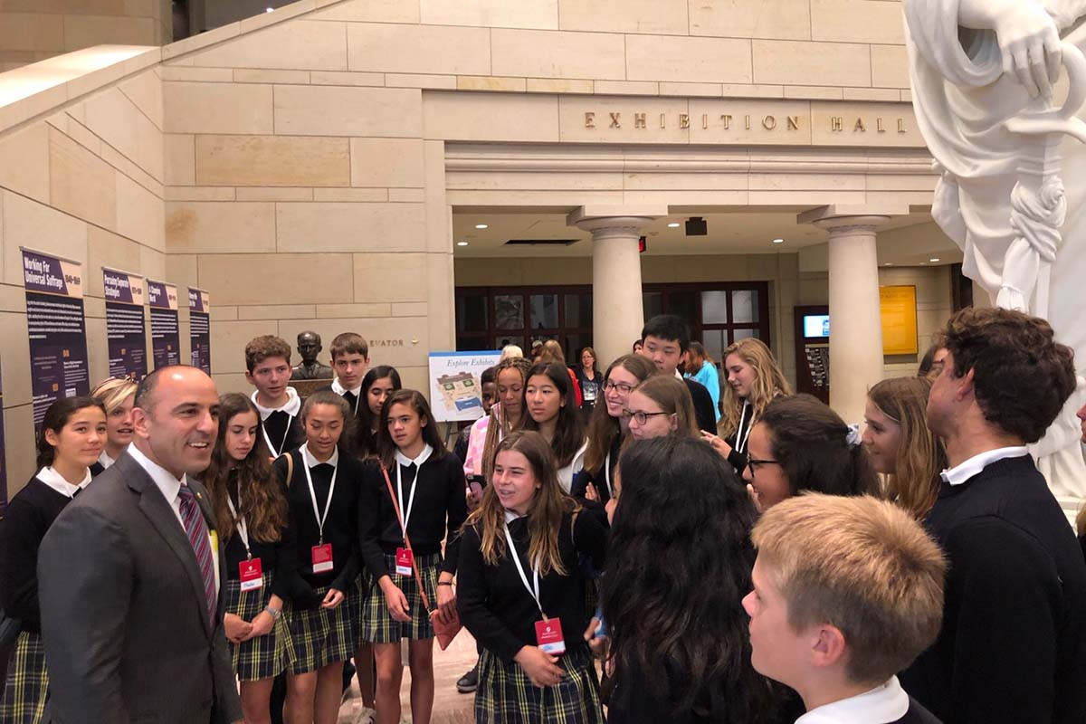 Students in the Capitol